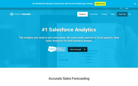 Screenshot of Products Page insightsquared.com - Sales Analytics & Reports - InsightSquared - captured Oct. 1, 2015