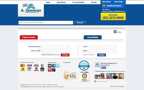 Screenshot of Login Page acamargo.com - Identificação - captured Sept. 23, 2014