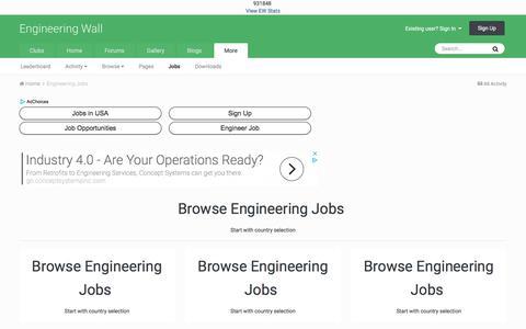 Screenshot of Jobs Page engineeringwall.com - Engineering Jobs - Engineering Wall - captured July 19, 2018