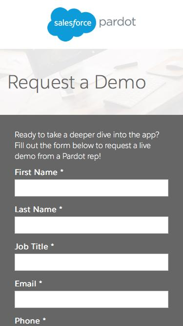 Request a Pardot Demo