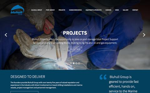 Screenshot of Home Page bluhullgroup.com - Homepage - Bluhull Group - captured Sept. 25, 2018