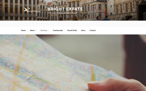 Screenshot of Services Page brightexpats.com - Services - Bright Expats - captured Aug. 3, 2018