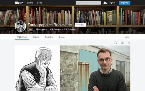 Screenshot of Flickr Page flickr.com - Fantagraphics Books, Inc. | Flickr - Photo Sharing! - captured Oct. 2, 2015