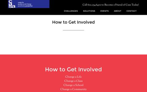 Screenshot of Signup Page casacares.org - How to Get Involved - captured Oct. 2, 2014