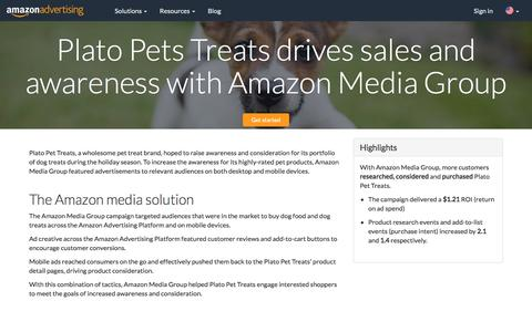 Screenshot of Case Studies Page amazon.com - Amazon Advertising - captured June 29, 2018