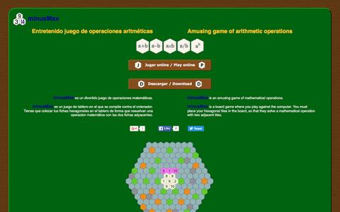 Screenshot of Home Page minusmax.com - minusMax - captured June 5, 2016