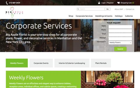 Corporate Flowery Delivery | Big Apple Florist
