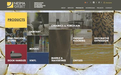 Screenshot of Products Page orbitksa.com - Nesma Orbit - products - captured Feb. 26, 2016