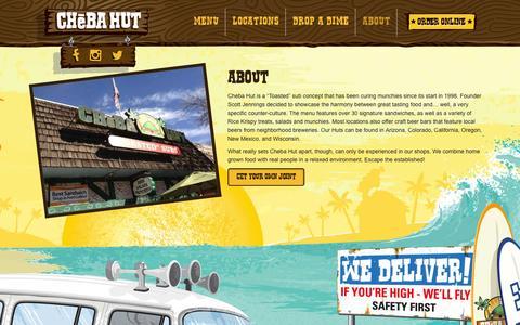 Screenshot of About Page chebahut.com - About | Cheba Hut - captured Dec. 8, 2015