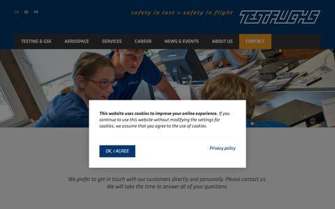 Screenshot of Contact Page test-fuchs.com - Contact | TEST-FUCHS GmbH - captured Nov. 18, 2018