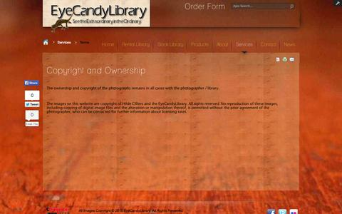 Screenshot of Terms Page eyecandylibrary.co.za - Terms - captured Sept. 30, 2014