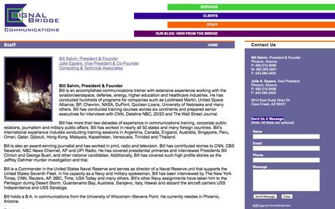 Screenshot of Contact Page signalbridge.com - Signal Bridge Communications -- Staff - captured Oct. 26, 2014