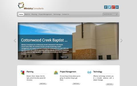 Screenshot of Home Page ministryconsultants.com - Ministry Consultants | Church Consultants - - captured Oct. 9, 2014