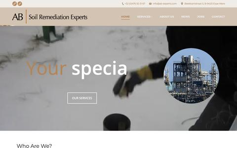 Screenshot of Home Page ab-experts.com - AB Experts – Making our customers image greener - captured Oct. 2, 2018