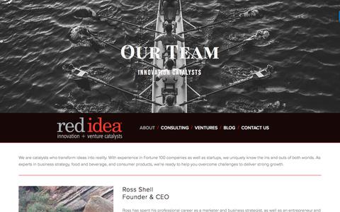 Screenshot of Team Page redideapartners.com - Our Team — Red Idea Partners - captured Sept. 21, 2018