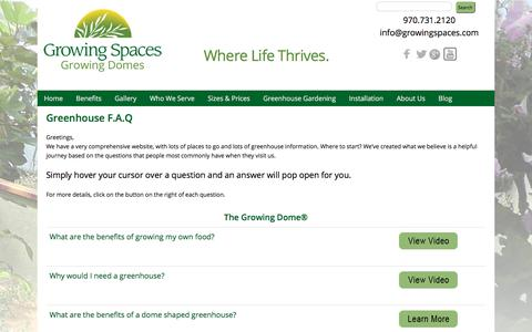 Screenshot of FAQ Page geodesic-greenhouse-kits.com - Greenhouse Information, Greenhouses Research, Geodesic Dome Greenhouses, Home Greenhouses - captured Sept. 19, 2017