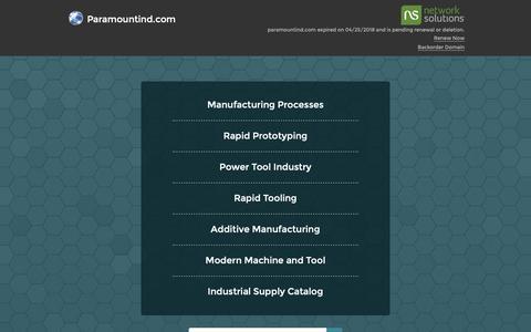 Screenshot of Home Page paramountind.com - Paramountind.com - captured Jan. 23, 2019