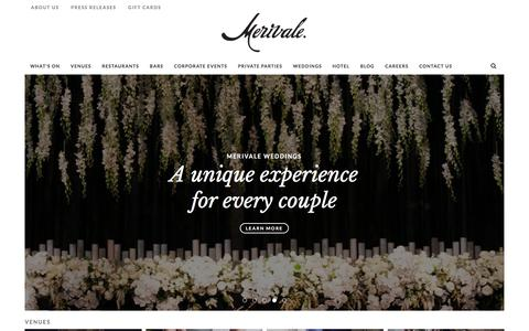 Screenshot of Home Page merivale.com.au - Merivale - Restaurants, Bars, Wedding Venues, Corporate Venues - Sydney - captured June 24, 2017