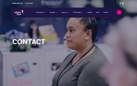 Screenshot of Contact Page Locations Page advicefirst.co.nz - Contact NZ Financial Advisers Pensions Insurance AdviceFirst - captured Nov. 20, 2018