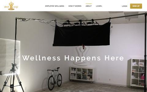Screenshot of About Page desk-yogi.com - About - Desk Yogi - captured July 8, 2018