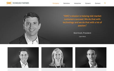 Screenshot of Team Page swc.com - SWC Technology Partners Leadership | SWC Leadership - captured Nov. 5, 2015