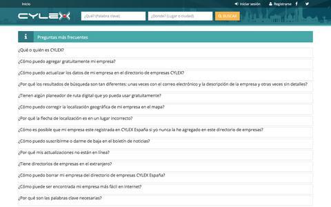 Screenshot of FAQ Page cylex-espana.es - España - Preguntas más frecuentes - captured June 27, 2017