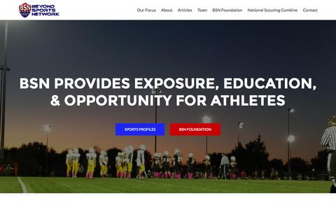 Screenshot of Home Page beyondsportsnetwork.com - Beyond Sports Network - All Athletics All The Time... Nothing Personal - captured June 17, 2015