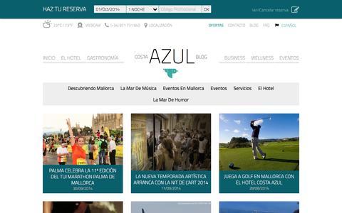 Screenshot of Blog hotelcostaazul.es - Hotel Costa Azul Palma de Mallorca   Hotel en la Bahia de Palma - captured Oct. 1, 2014