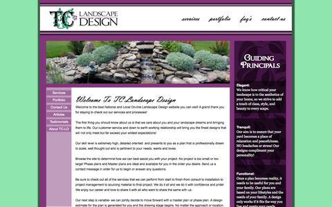 Screenshot of Home Page tc-landscapedesign.com - TC-Landscape Design: Home - captured Sept. 30, 2014