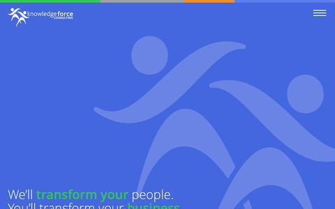 Screenshot of Home Page knowledgeforceconsulting.com - KnowledgeForce Consulting - captured Nov. 27, 2016
