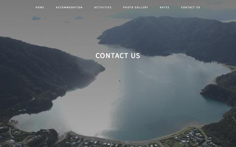 Screenshot of Contact Page okiwi.co.nz - Contact Us – Okiwi Bay Holiday Park & Lodge - captured Oct. 31, 2018