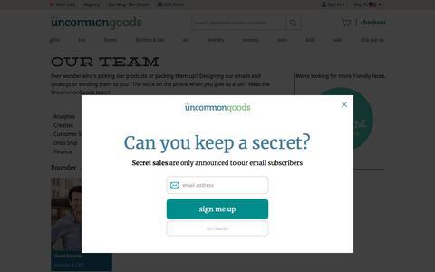 Screenshot of Team Page uncommongoods.com - Staff Bios | UncommonGoods - captured July 14, 2018