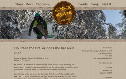 Screenshot of Blog bonfirebrewing.com - Blog - Bonfire BrewingBonfire Brewing - captured Sept. 30, 2014
