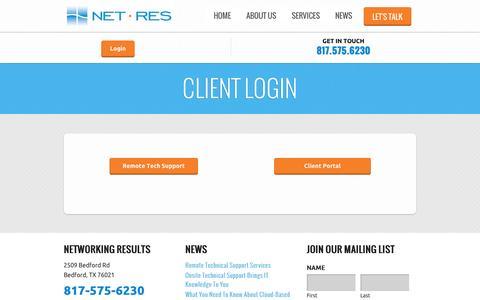 Screenshot of Login Page networkingresults.com - Login   Networking Results - captured Oct. 26, 2014