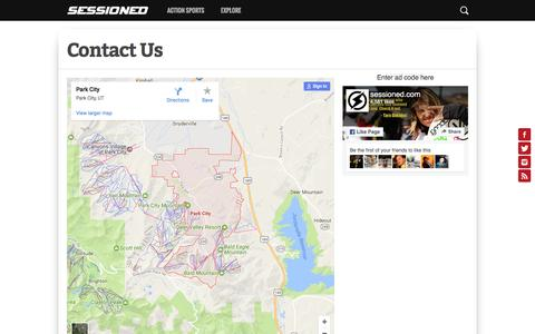 Screenshot of Contact Page sessioned.com - Contact Us – Sessioned.com - captured Dec. 12, 2016