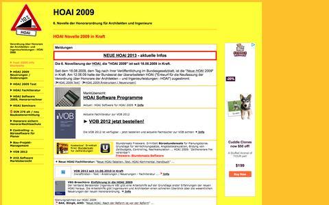 Screenshot of Home Page hoai-2009.info - HOAI 2009 - captured June 6, 2016