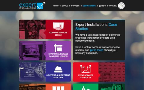 Screenshot of Case Studies Page expertinstallations.co.uk - Case Studies | Expert Installations - captured July 24, 2018