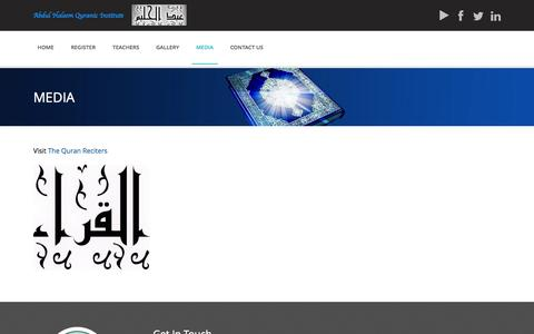 Screenshot of Press Page ahqiplano.org - Learn the Quran with Tajweed and Makharij - Abdul Haleem Quranic Institute - captured Oct. 4, 2014