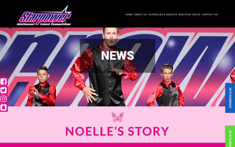 Screenshot of Press Page starpowertalent.com - News - Starpower Talent Competition - captured Oct. 18, 2018