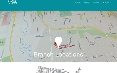 Screenshot of Locations Page vosslighting.com - Locations – Voss Lighting - captured June 17, 2017