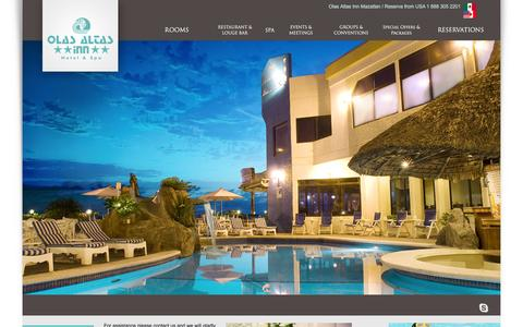 Screenshot of Contact Page olasaltasinn.com.mx - Contact us | Olas Altas Inn Hotel & Spa Mazatlan - captured Feb. 13, 2016
