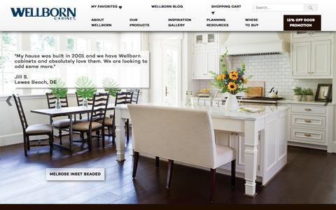 Screenshot of Home Page Terms Page wellborn.com - Wellborn Cabinets | Cabinetry | Cabinet Manufacturers - captured Sept. 23, 2018