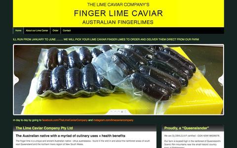 Screenshot of Home Page limecaviar.net - Home   Australian Caviar Company - captured Jan. 22, 2016
