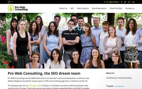 SEO Specialist: About us | Pro Web Consulting
