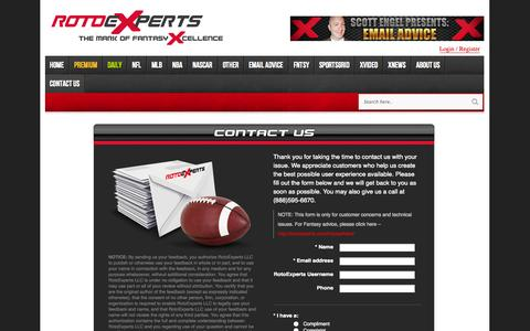 Screenshot of Contact Page rotoexperts.com - Contact Us - RotoExperts - captured Sept. 19, 2014