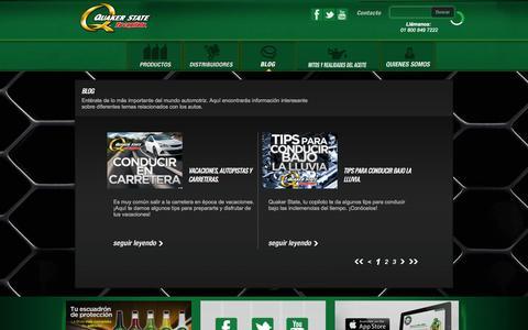 Screenshot of Blog quakerstate.com.mx - Blog » Página 1 - Quaker State - captured Oct. 31, 2014