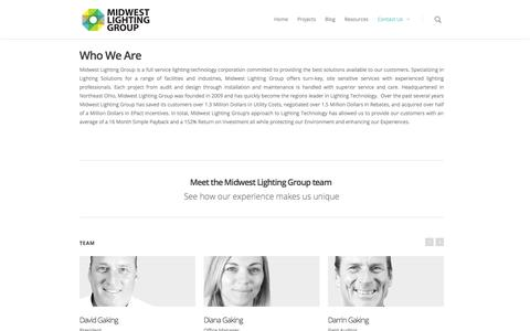 Screenshot of Team Page midwestlightinggroup.com - | Team - captured Sept. 30, 2014