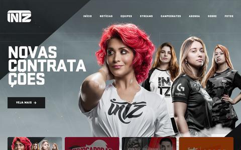 Screenshot of Home Page intz.com.br - INTZ – O CLUBE MAIS INTRÉPIDO DO MUNDO - captured March 22, 2019