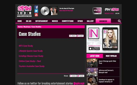 Screenshot of Case Studies Page spin1038.com - Case Studies | Case Studies | spin1038.com - captured Sept. 25, 2014