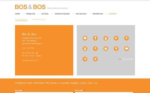 Screenshot of Contact Page bosenbos.nl - Contact - Bos & Bos - captured Oct. 5, 2018